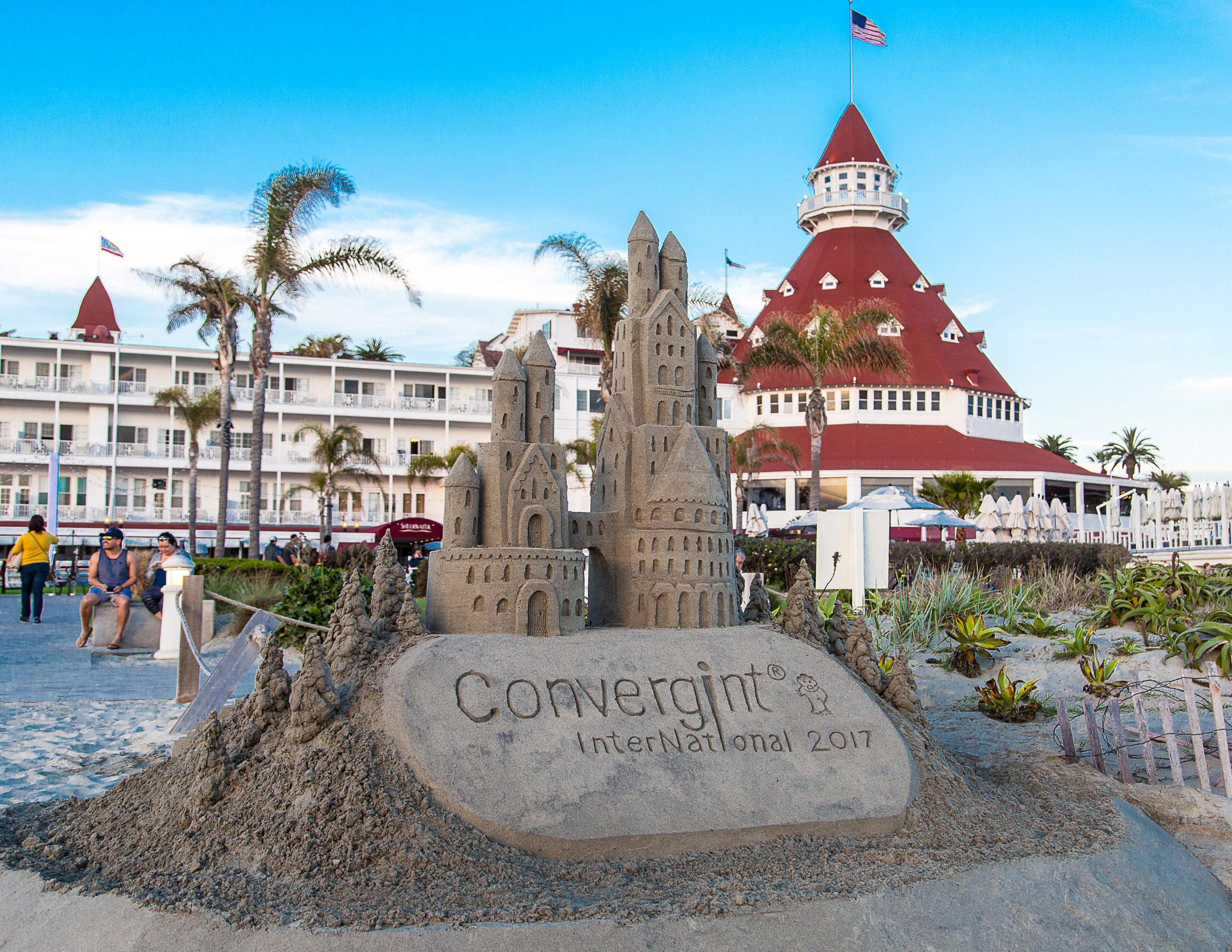 Convergint International 2017 sandcastle at the beach
