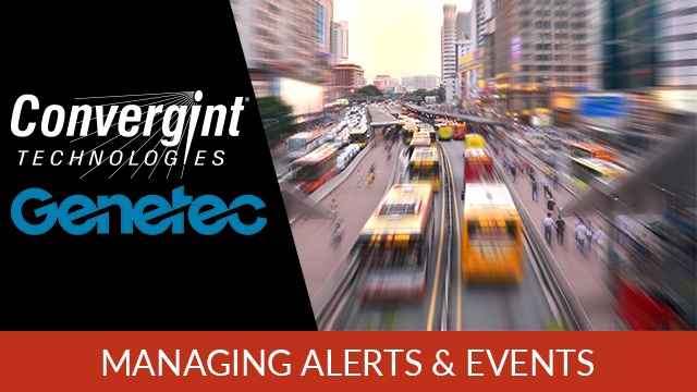 Genetec Managing Alerts and Events Speeding Bus with Blurred Motion Image